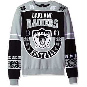 Ugly Christmas Sweater, Oakland Raiders, New
